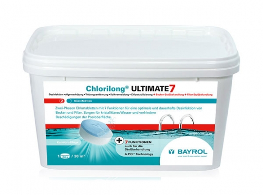 BAYROL Chlorilong ULTIMATE 7 (ehem. Varitab®) - 4,8kg Eimer